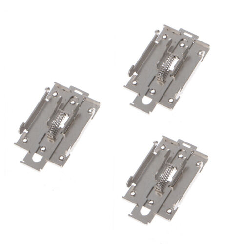 35mm 3Pcs Single-phase Solid State Relay Fixed DIN Rail Mounting Bracket Clamp