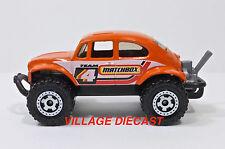 2008 Matchbox #91 Volkswagen Beetle 4x4 ORANGE/RINGED GEAR WHEEL/MINT