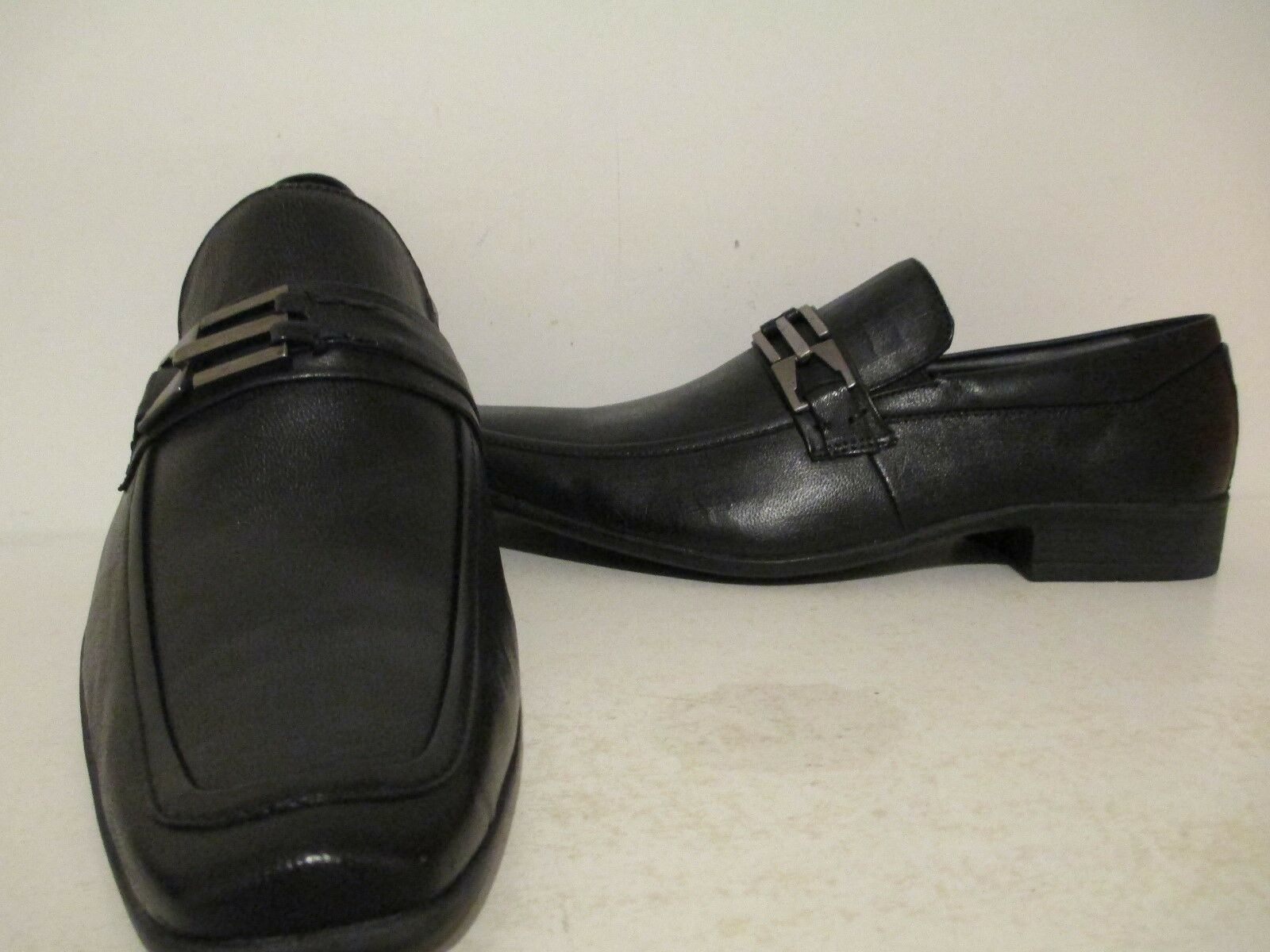 Giorgio Brutini Mens Gideon 47914 Leather Slip On Loafer shoes Black Sz 9.5 - 13