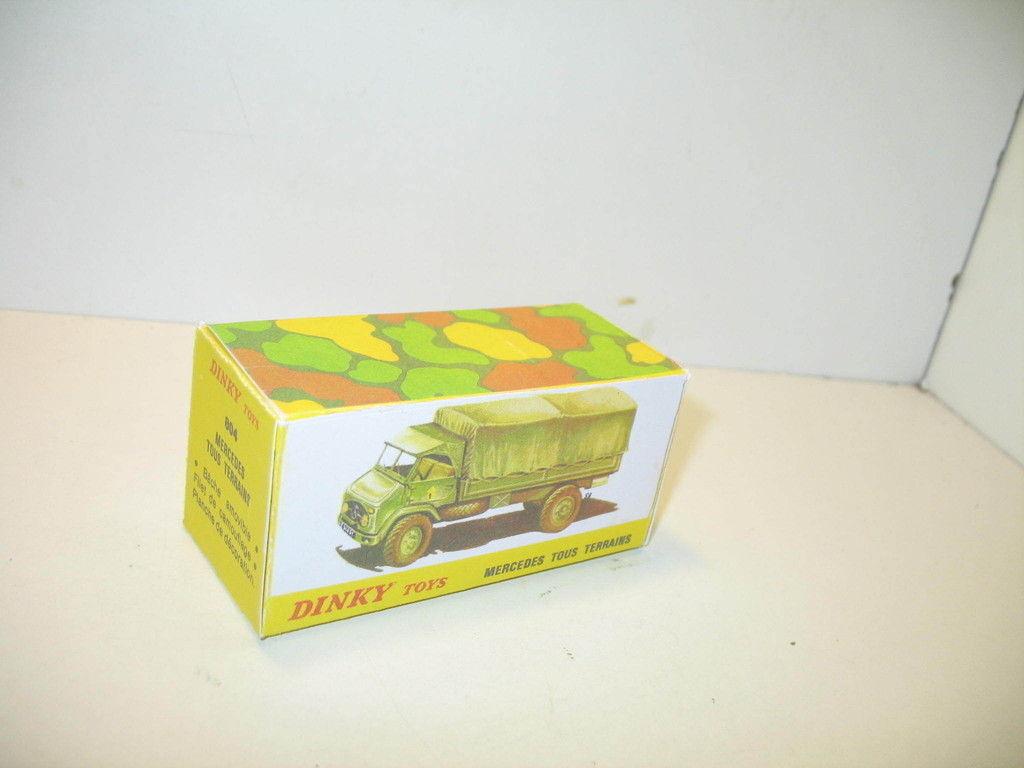 N37, Schachtel repro Lastwagen mercedes Unimog-ii ref.804, Militär DINKY TOYS