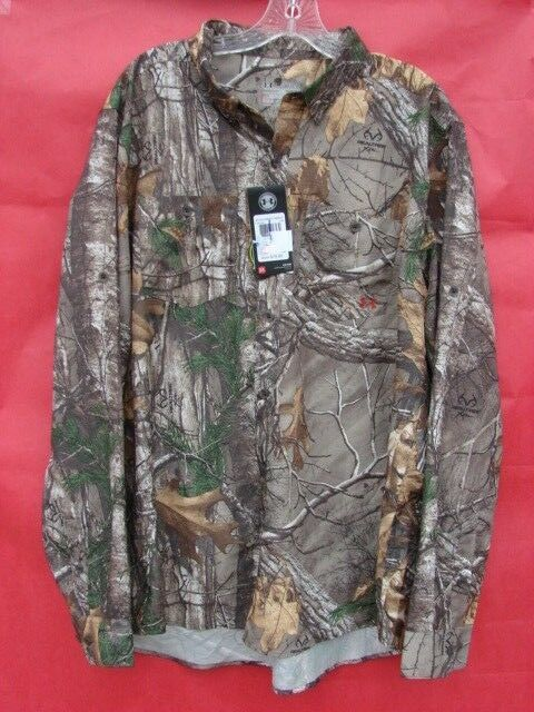NWT UA Chesapeake Camo Shirt Men's Hunting Long Sleeve Shirt XL 1255090