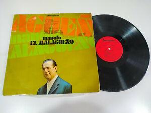 """Manolo el Malagueño Exitos Flamenco 1971 - LP 12"""" Vinilo G+/VG"""