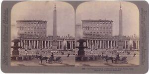 Roma Vaticano Italia Foto Stereo Stereoview di Carta Citrato Vintage