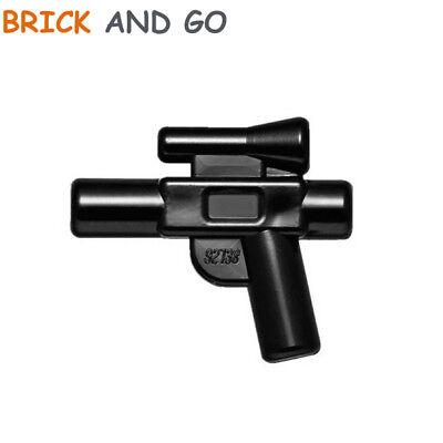 2 X Lego 92738 Omino Arma Pistola (nera) Pistola Arma Blaster Nuovo New