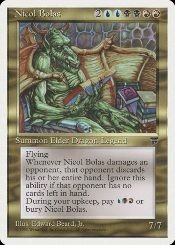 Nicol Bolas Chronicles NM-M Blue Black Red Rare MAGIC GATHERING CARD ABUGames