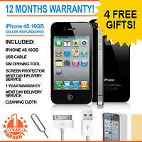 Apple iPhone 4S - 16 GB - Black (Unlocked) Smartphone