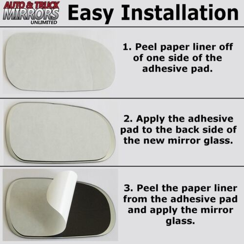 Full Adhesive For 96-00 Elantra Driver Side Mirror Glass Replacement