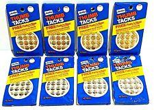 Amtac Thumb Tacks 320 Tacks Total Lot Of 8 Packs Chrome Amp Brass Vintage 1983