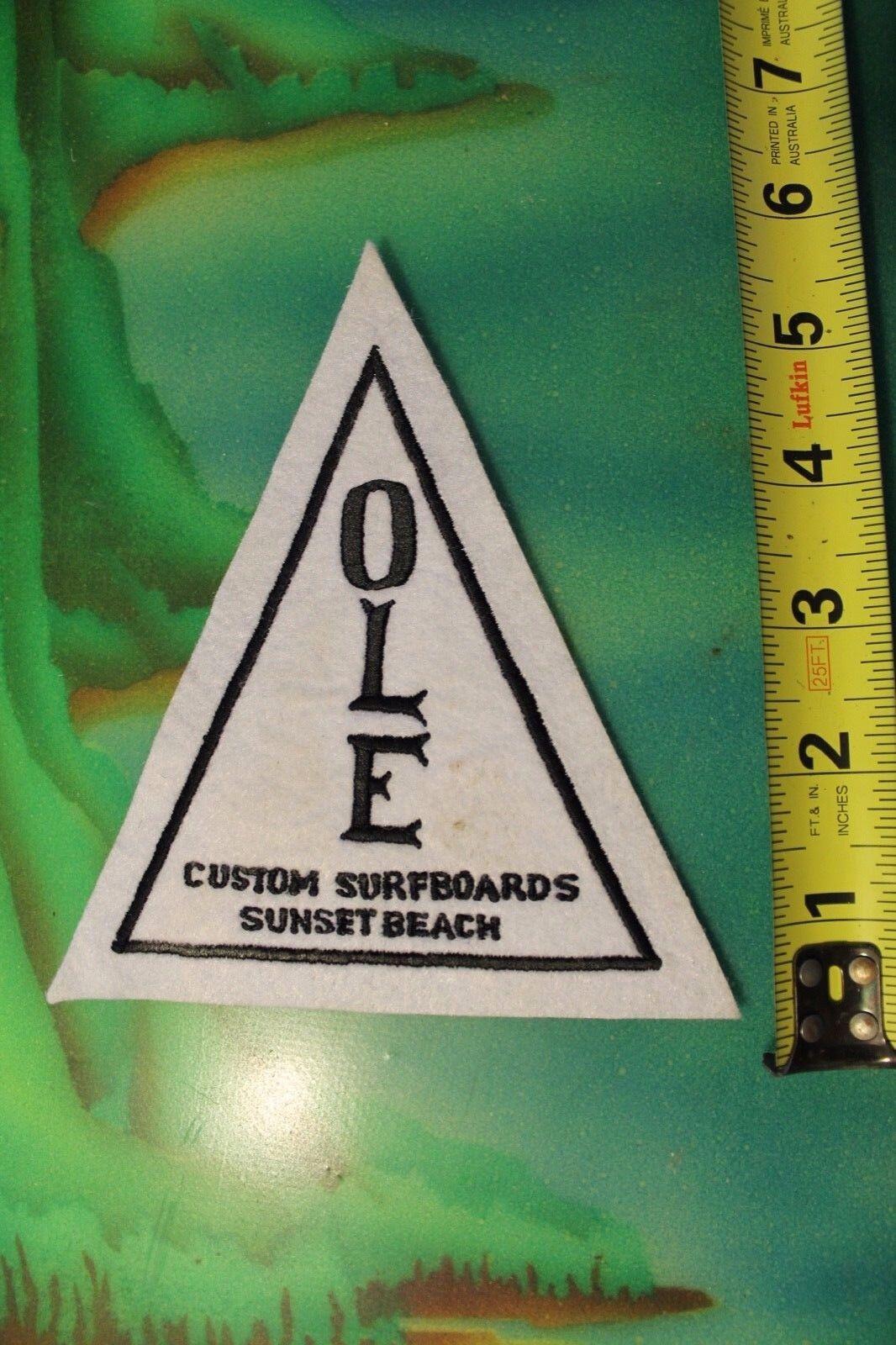 OLE Surfboards Sunset Beach Hawaii North Shore Rare Vintage Felt Surfing PATCH
