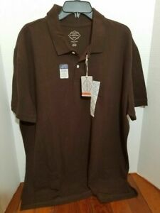 St-Johns-By-Mens-XXL-Polo-Casual-Golf-Short-Sleeve-Shirt-Brown-New