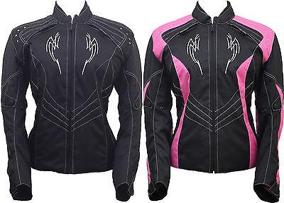 Ladies Women Motorbike Motorcycle Armoured Textile Cordura Waterproof Jacket