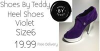 Ladies Heeled Shoes Violet Size6 Shoes By Teddy