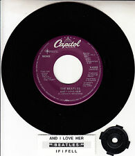 "BEATLES  And I Love Her  RARE RARE! 45 rpm 7"" VINYL RECORD BRAND NEW"