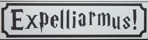 "Harry Potter Poudlard Expelliarmus Signe Wall Art Matt Black Large 12/"""