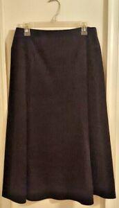 Pre-Owned-Women-s-Black-Willi-Smith-Corduroy-Skirt-Size-8