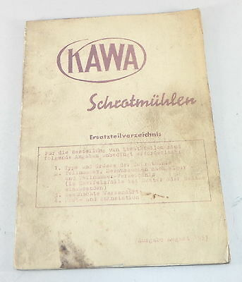 Other Tractor Publications Parts Catalog/spare Parts List Kawa Grist Stand 08/1951