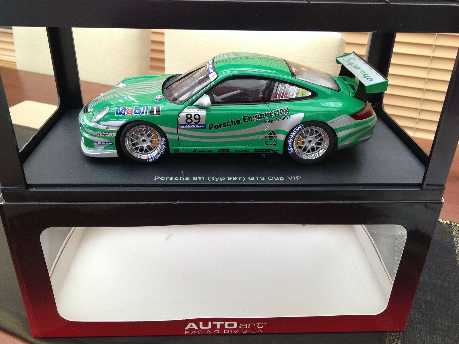 bilkonst 1 18 PORSCHE 911 (997) GT3 CUP 2006 (VIP  GREN LEVER) MYCKET RARE Herregud
