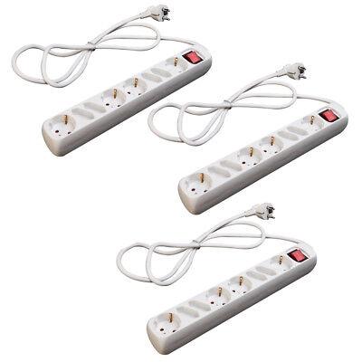 2 Stück LEX3-fach Steckerleiste mit Wippschalter und KinderschutzSteckdose