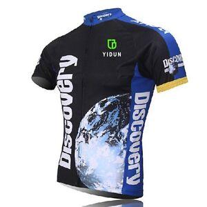 Discovery-Team-Cycling-Jerseys-Men-039-s-Mountain-Bike-Bicycle-Jerseys-Coolmax-S-5XL