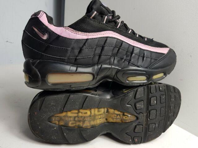 Nike Air Max 95 2005 Größe UK 8 EU 42 Herren Schwarz Pink Turnschuhe 609048 049