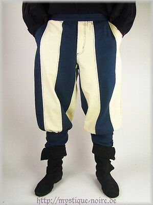 Medieval Viking Navigator Tudor Trousers 2 Colors Reenactment SCA Larp Laced Up