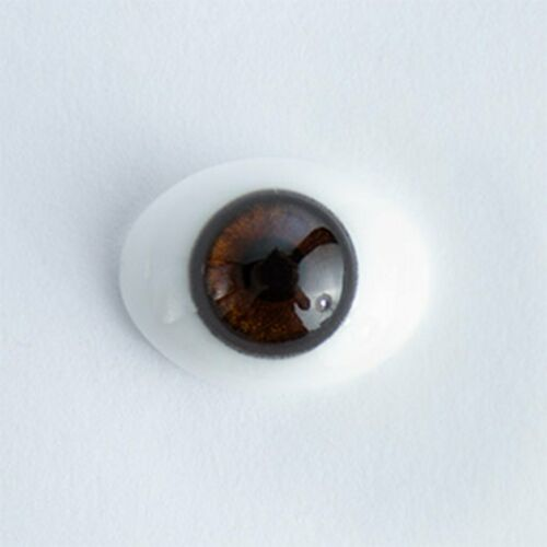 #1381 18mm Brown 1 Pair Oval Glass Eyes