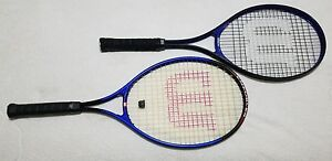 (2) Wilson Enforcer Tennis Racquets L3 4 3/8 Size (Pre-Owned)