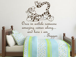 Image Is Loading Wall Decals Quotes Winnie The Pooh Tigger Nursery