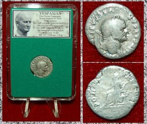 Roman-Empire-Coin-VESPASIAN-Pax-Holing-Branch-Seated-On-Reverse-Silver-Denarius