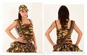Womens-Military-Camo-Camouflage-Army-Vest-Top-Fancy-Dress-Clothing-Sizes-6-14