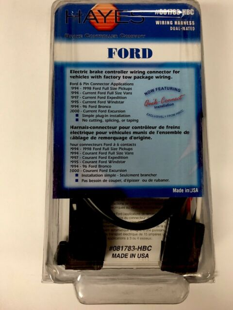 Hayes Towing Electronics Wiring Harness for Ford 94-11'