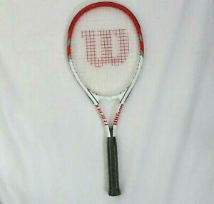 Wilson-Federer-Power-Strings-27-034-Tennis-Racquet-Racket-4-3-8-034-Grip-WRT3247QU3
