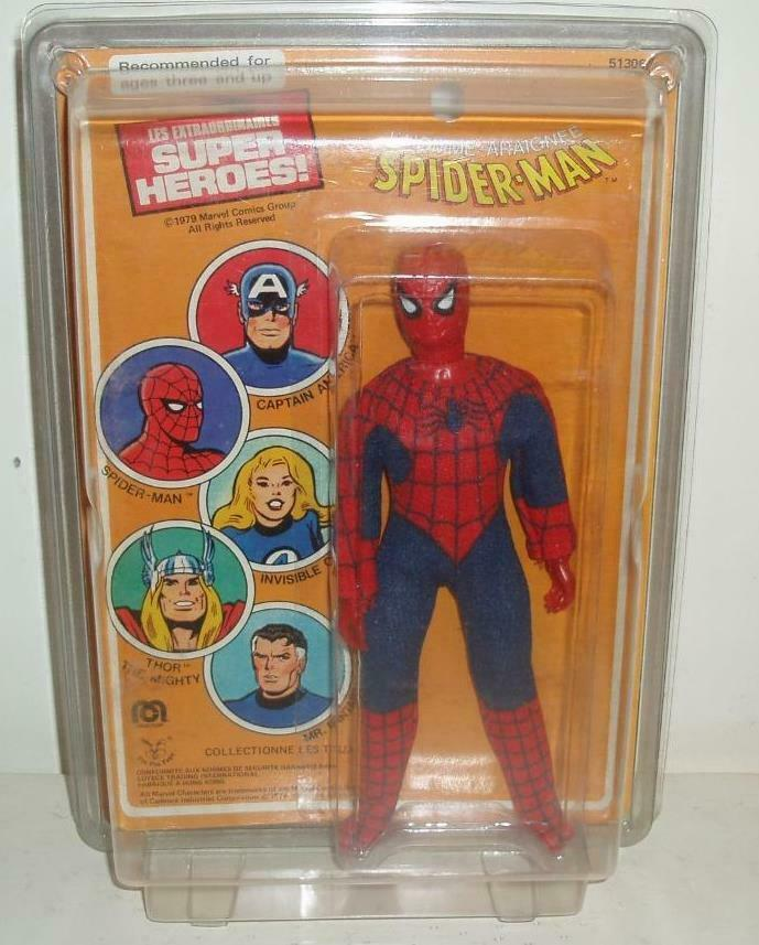Mego World's Greatest Super-Heroes Spider-Man 1979 Pin Pin French  voitured WGSH  qualité officielle