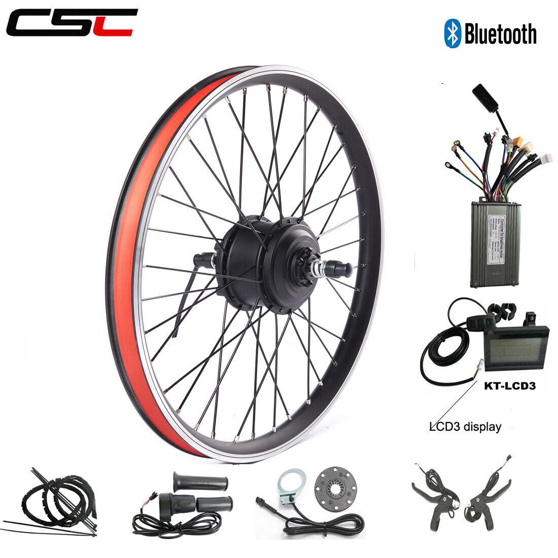 Electric bicicletta Motor rueda Conversion Kit 36V 250W 350W 500W blutooth Ebicicletta
