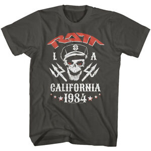 Ratt-80-039-s-Band-LA-California-1984-Adult-T-Shirt-Heavy-Metal-Music