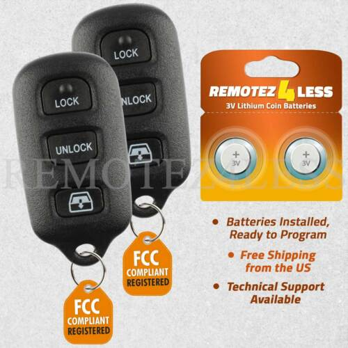 2pcs Replacement Keyless Entry Remote Car Key Fob for Toyota 4Runner Sequoia
