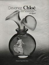 Publicité Advertising CHLOE parfums lagerfeld