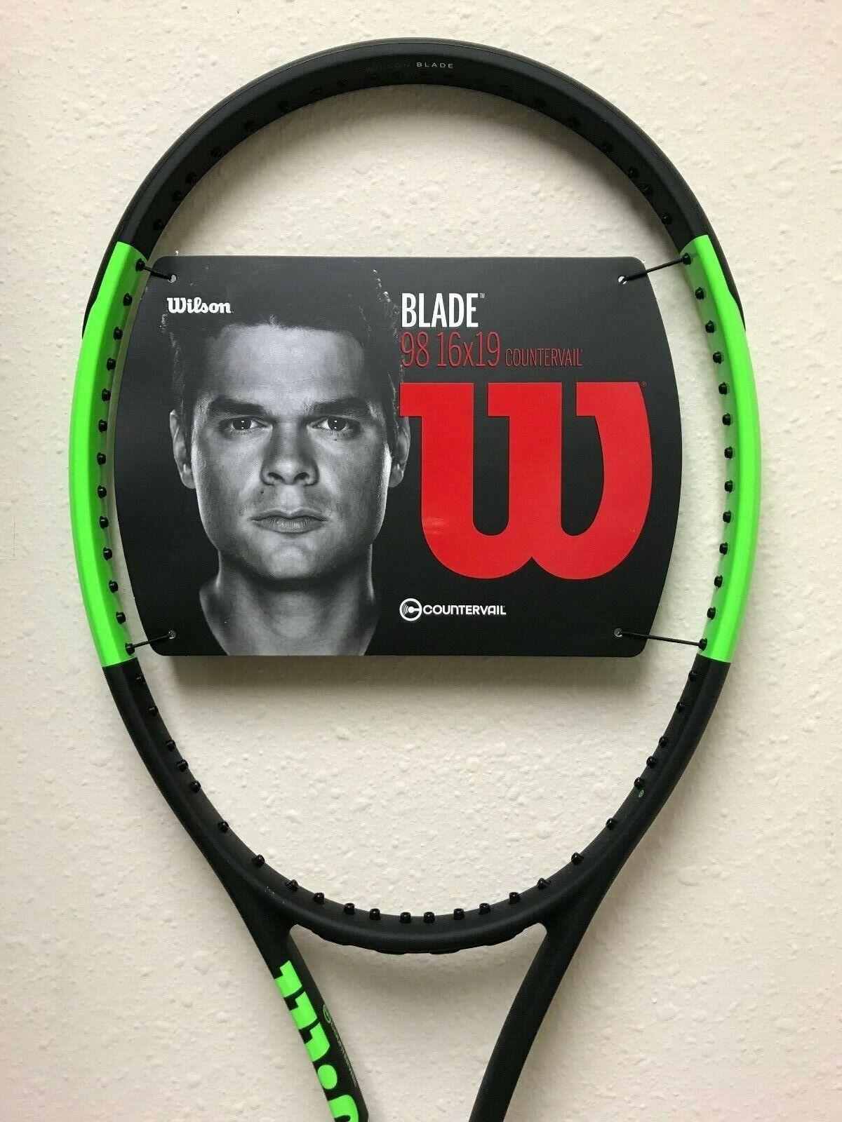 Wilson Blade 98 16 x 19 Countervail Blk Grn Tennis Racquet Grip Größe 4 3 8
