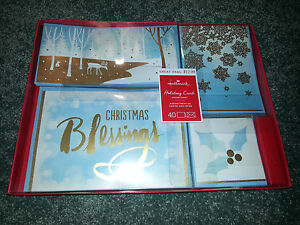 image is loading hallmark religious 40 christmas cards amp envelopes boxed