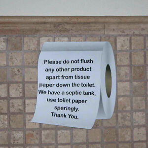 Septic tank sign toilet roll shaped sign loo plaque for 1 bathroom septic tank