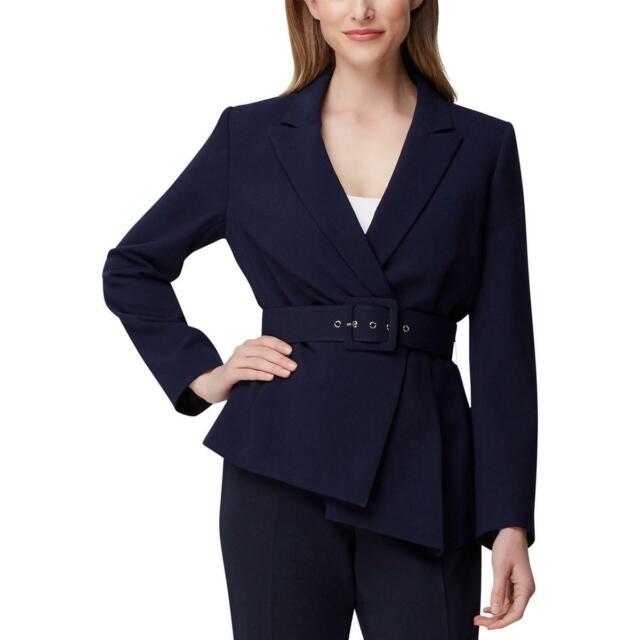 Tahari ASL Womens Navy Office Wear Professional Blazer Jacket 4 BHFO 7467