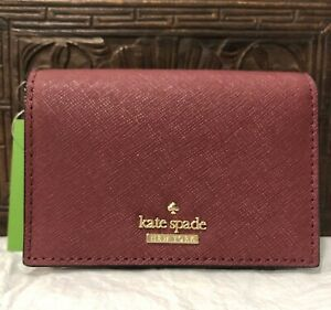 Authentic-Kate-Spade-cameron-street-gabe-card-case-coin-wallet-key-chain-sienna