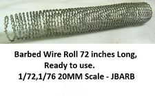 Barbed Wire Roll 72 inches Long,Ready to use. 1/72,1/76 20MM Scale - JBARB