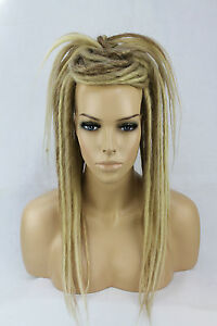 Blonde-Mix-Synthetic-Dread-Falls-Hair-Pieces-20-Inches-Unisex