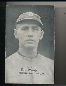 Details About 1922 Smokey Joe Wood Exhibit Baseball Card Cleveland