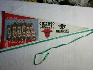1988-89-NBA-Chicago-Bulls-Vintage-Pennant-Collectible-30-inch