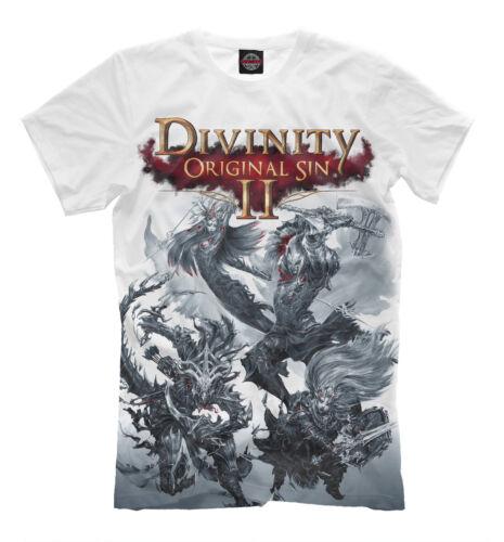 Original Sin II T-Shirt-Jeu Vidéo Couleur Blanche Tee Divinity