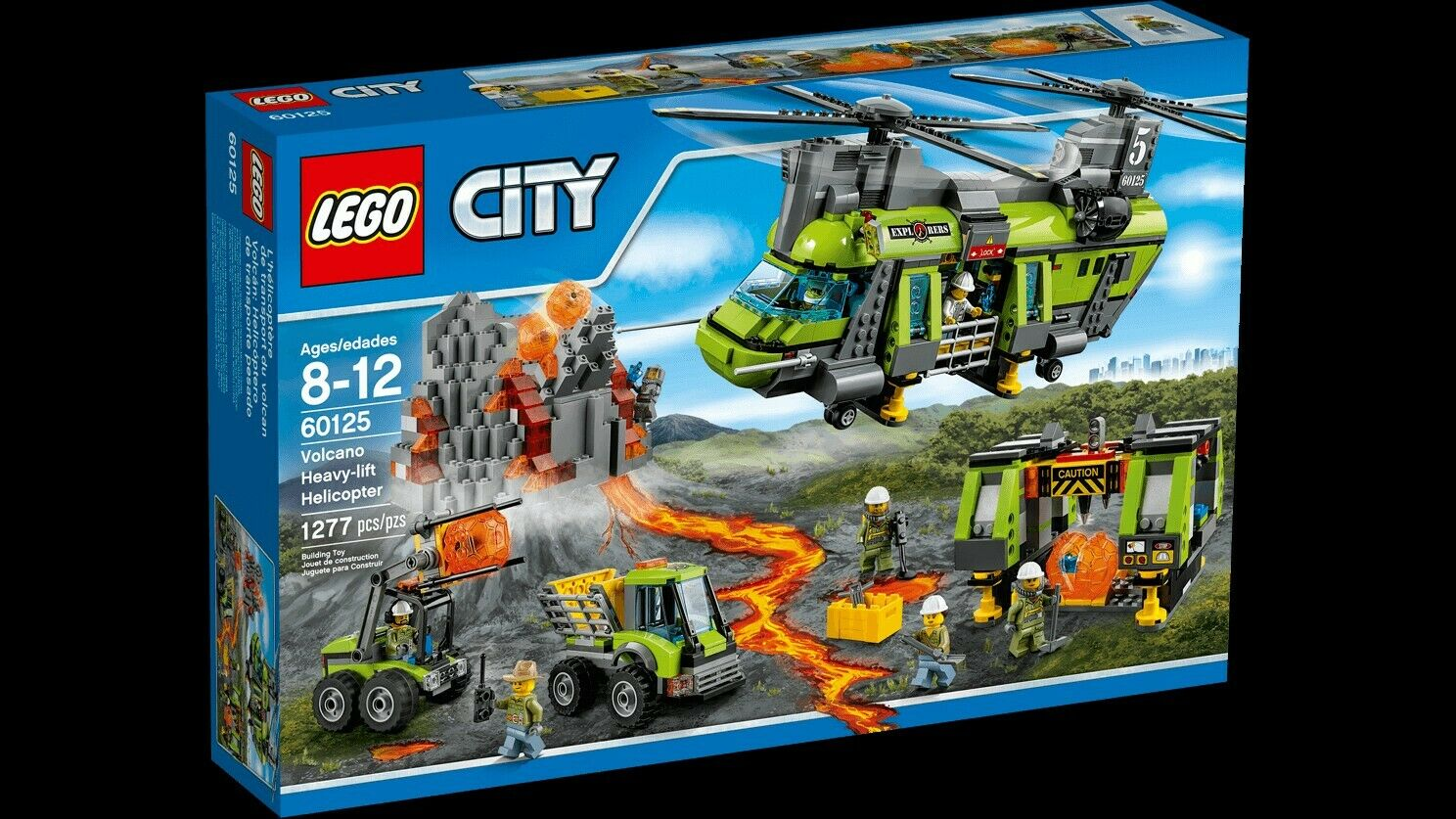 Lego City 60125 Volcano heavy Lift Helicopter New Retired lot2