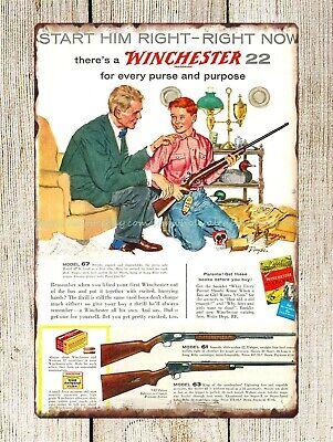 Winchester Rifles /& Ammunition Metal Wall Sign Door Plaque 30 x 20 cm