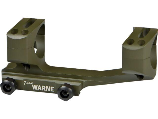 Warne XSKEL30OD Gen 2 Extended Skeletonized 30mm Scope Mount Mil-Spec OD Green